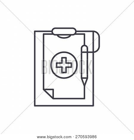 Medical Diagnosis Line Icon Concept. Medical Diagnosis Vector Linear Illustration, Symbol, Sign