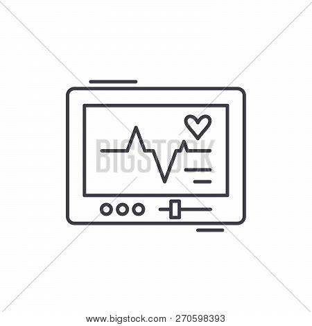 Pacemaker Line Icon Concept. Pacemaker Vector Linear Illustration, Symbol, Sign