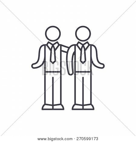 Partnership Line Icon Concept. Partnership Vector Linear Illustration, Symbol, Sign