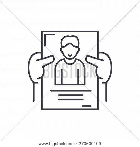 Personnel Management Line Icon Concept. Personnel Management Vector Linear Illustration, Symbol, Sig