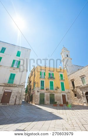 Molfetta, Apulia, Italy - Sunshine In The Historical Alleyways Of Molfetta