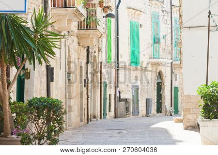 Molfetta, Apulia, Italy - Calming Atmosphere In The Old Town Of Molfetta