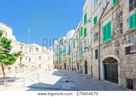 Molfetta, Apulia, Italy - Marketplace Of Molfetta Surrounded By Residential Buildings