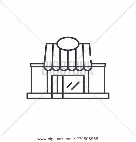 Retail Line Icon Concept. Retail Vector Linear Illustration, Symbol, Sign