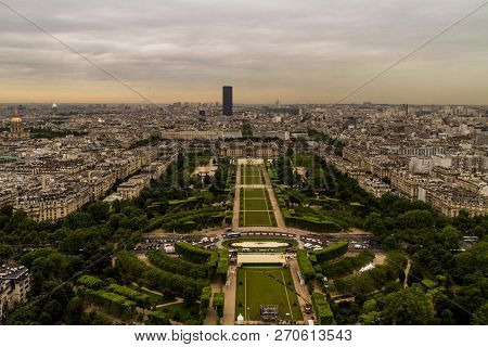 Paris, France - May 21,2104: Paris View From Above The Eiffel Tower