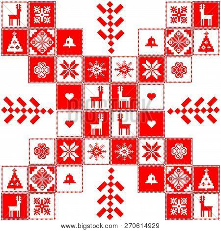 Red And White Christmas Elements