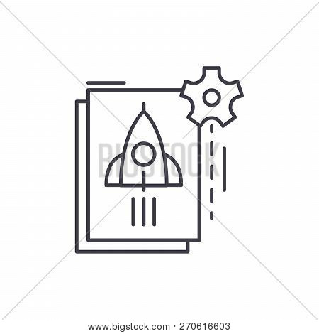 Startup Startup Line Icon Concept. Startup Startup Vector Linear Illustration, Symbol, Sign