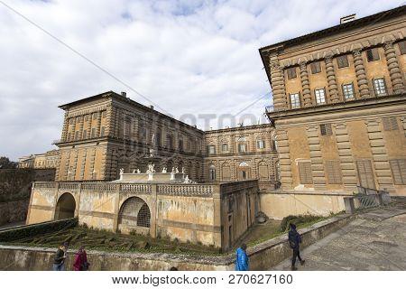 Boboli Garden Full Of Tourists In Florence
