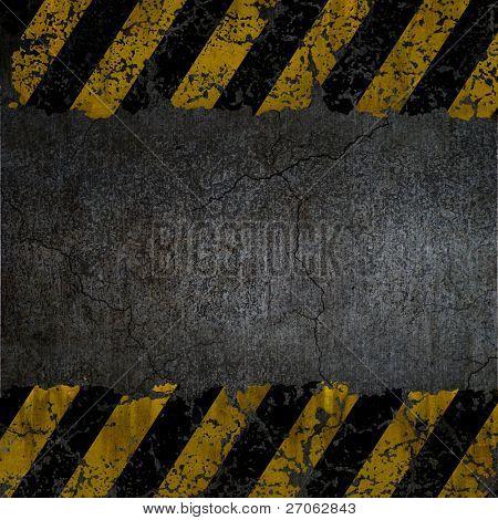 Textura de fondo de advertencia