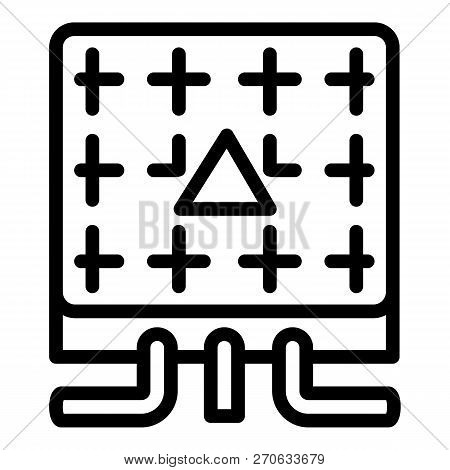 Electric Commutator Box Icon. Outline Electric Commutator Box Vector Icon For Web Design Isolated On