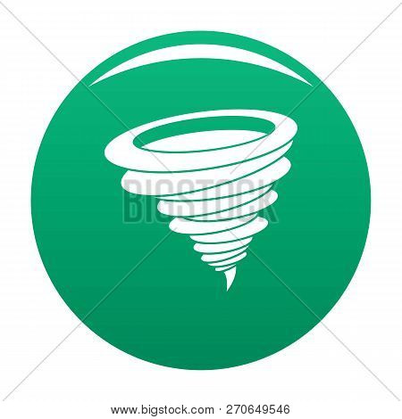 Hurricane Icon. Simple Illustration Of Hurricane Vector Icon For Any Design Green
