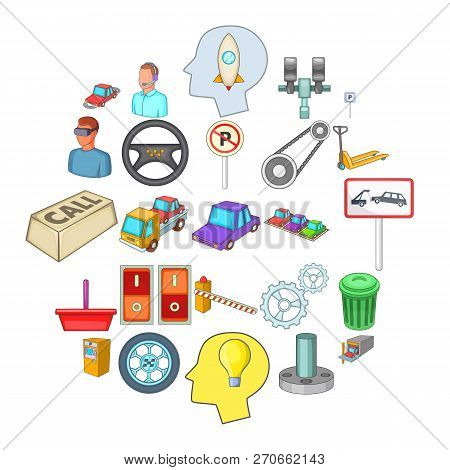 Expertise Icons Set. Cartoon Set Of 25 Expertise Vector Icons For Web Isolated On White Background