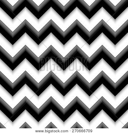 Order Geometric Zigzag Line Abstract Background Decor Design Seamless Pattern