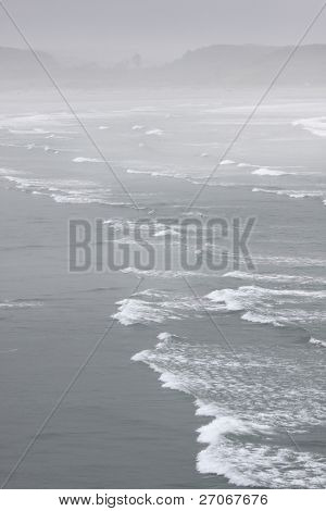 Beach Near Cape Foulwind In The Fog