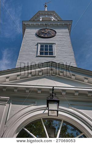 Closeup of Church Steeple