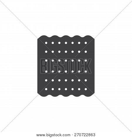 Jewish Matzah Vector Icon. Filled Flat Sign For Mobile Concept And Web Design. Passover Bread Simple
