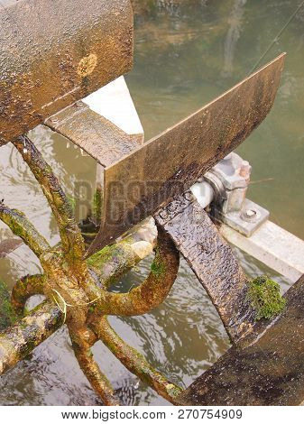 Historic Water Wheel Near Thuisbrunn In The Franconian Switzerland East Of Nuremberg