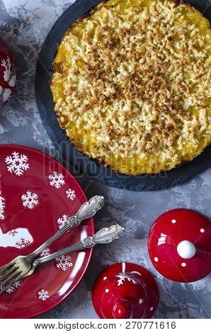 Vegan Tart With Lemon-orange Filling And Crumb