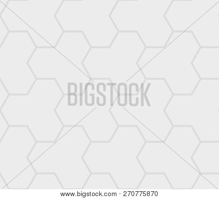 Paver Brick Floor Seamless Pattern Element, Grey Colour.