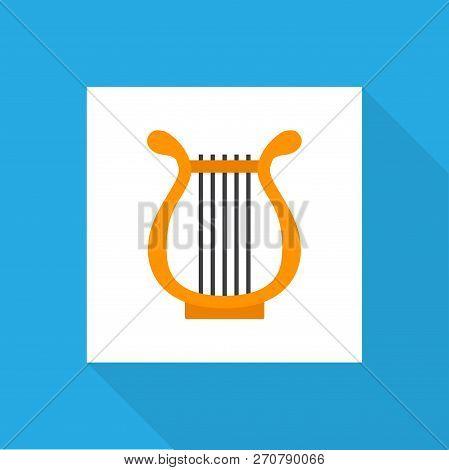 Philharmonic Icon Flat Symbol. Premium Quality Isolated Sonata Element In Trendy Style.