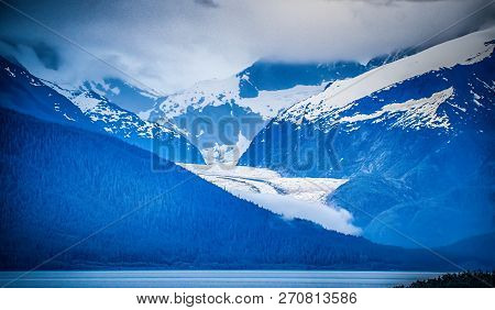 Alaskan Vast Landscape During Summer Season In June