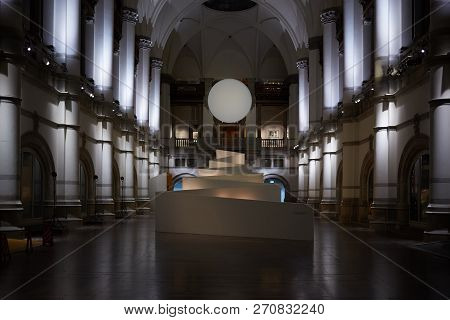 Stockholm, Sweden - November 6, 2018: Interior Of Nordic Museum. It Is Dedicated To The Cultural His