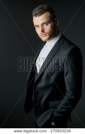 Rich Man In Classic Suits. Fashion Suit. Luxury Mens Clothing. Man In Suit. Classical Costume. Mans