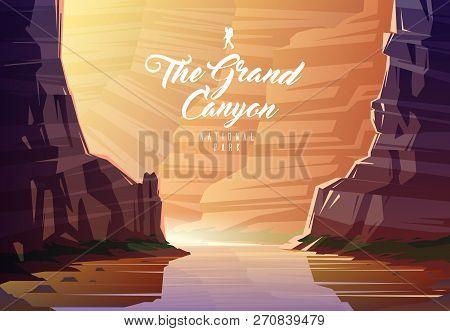 The Grand Canyon National Park. Nature Of Arizona, The Usa. The Colorado River.