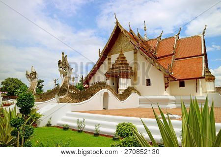 Wat Phumin Temple, Which The Main Building Combines Ubosot And Wiharn (worshiping Hall And Ordinatio