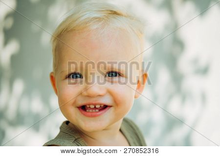 Health Is Real Beauty. Baby Boy Enjoy Happy Childhood. Little Baby Happy Smiling. Health Care For Ha