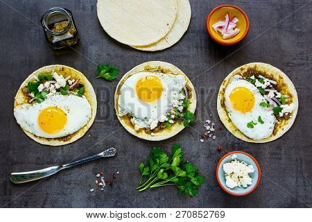 Tortillas With Fried Eggs