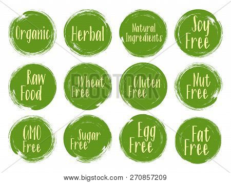 Vector Organic Labels Vector & Photo (Free Trial) | Bigstock
