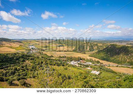 Landscape Of Countryside From Vejer Village In Cadiz