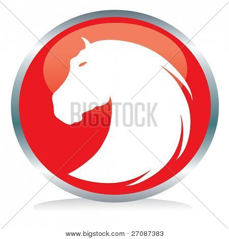 Horse button sign