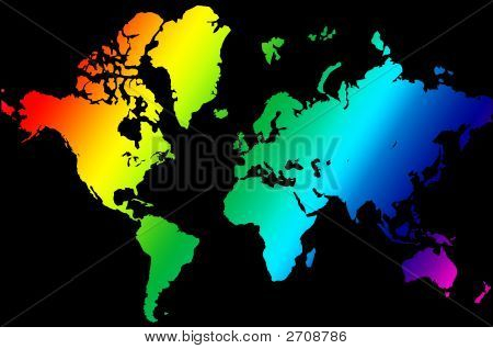 Colorful Earth Map Illustration