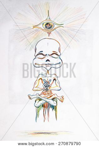 Meditation and yoga. Umorik achieved enlightenment by meditating. Opening chakras poster