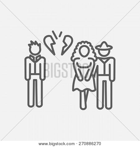 Betrayal Icon Line Symbol. Isolated Vector Illustration Of  Icon Sign Concept For Your Web Site Mobi