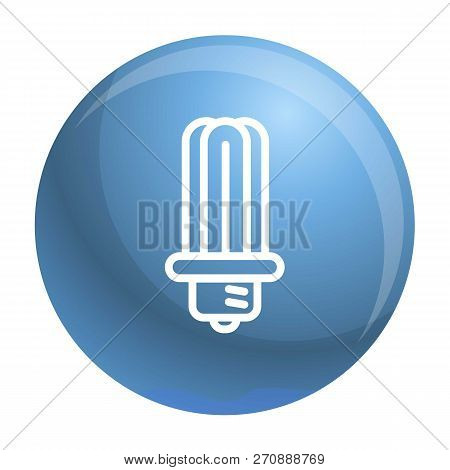 Ecology Bulb Icon. Outline Ecology Bulb Vector Icon For Web Design Isolated On White Background