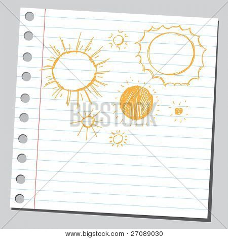 Scribble suns