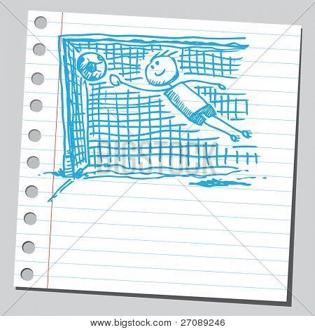 Scribble goalkeeper