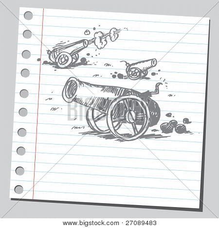Scribble cannons