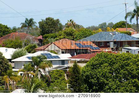 Residential Solar Panels On Houses - Australia