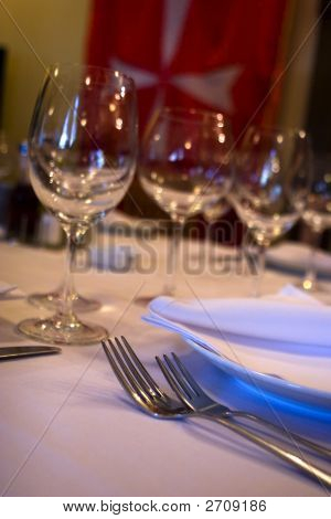 Table Appointments At Restaurant