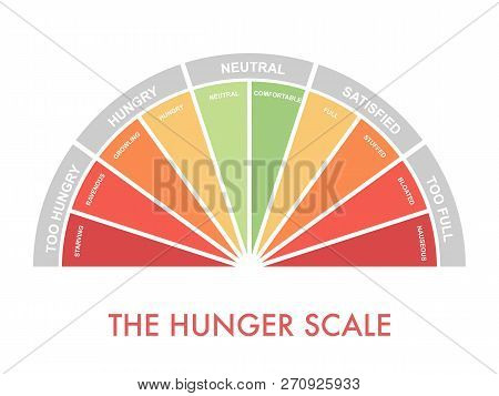 Hunger-fullness Scale 0 To 10 For Intuitive And Mindful Eating And Diet Control. Arch Chart Indicati