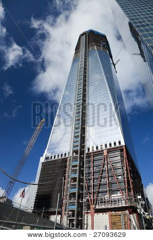 New York City - October 3: One World Trade Center (formerly Known As The Freedom Tower) Is Shown Und