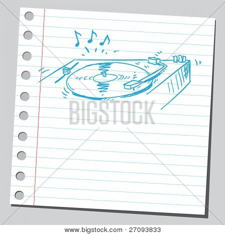 Drawing of a turntable