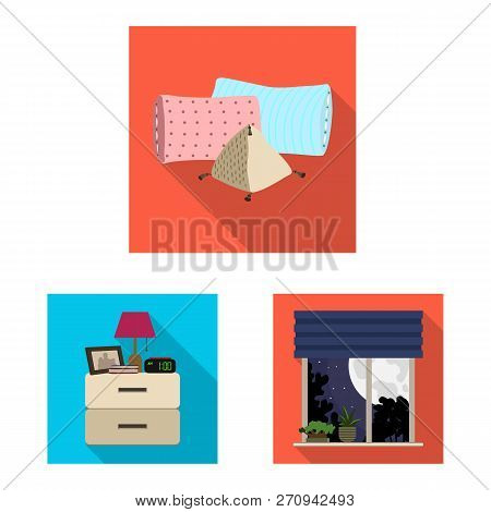 Vector Design Of Dreams And Night Logo. Collection Of Dreams And Bedroom Vector Icon For Stock.