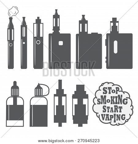 Set Of Vaping Objects Icons