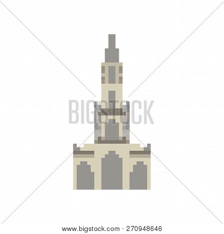 Berne Cathedral Pixel Art. Berne Landmark 8 Bit. Switzerland Showplace Pixelate 16bit. Old Game Comp