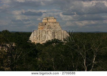 Mayan Pyramid In Mexico